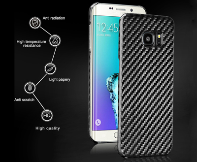 Carbon fiber leather cellphone cover