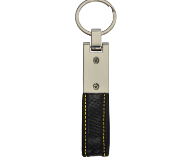 Metal Keychain Flexible Real Carbon Fiber Key Chains
